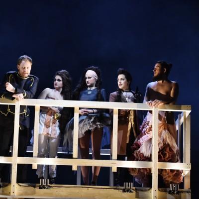 Dritte Dame | Die Zauberflöte |W. A. Mozart | Theater Basel | Sebastian Kohlhepp, Dara Savinova, Bryony Dwyer, Thomas Tatzl |Foto: Sandra Then | 2015