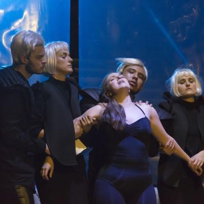 Romeo und Julia |Boris Blacher | Theater Basel | Markus Nykänen, Meike Hartmann, Bryony Dwyer, José Coca Loza | Foto: Serafina Oppliger | 2016